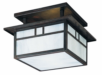 Arroyo Craftsman HCM-15 Huntington Craftsman Flush Mount Ceiling Light - 15 inches wide