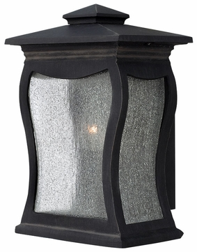 Hinkley 1480MB Richmond Seedy Glass Exterior Black Lantern Wall Sconce