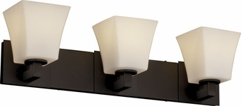 Justice Design FSN892340 Modular Fusion Square Flared Shade Contemporary Three-Light Bathroom Lighting