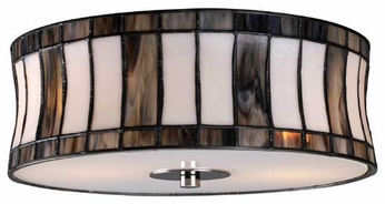 Landmark 720412 Delgado Tiffany Flush Mount Ceiling Light