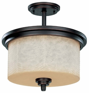Nuvo 603852 Lucern ES Old World Semi-Flush Ceiling Light