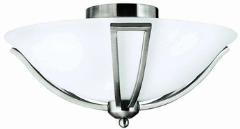 Hinkley 4660BN Bolla Nickel 2 Light Flush-Mount Ceiling Light