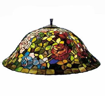 Meyda Tiffany 31124 Rosebush 28 inches wide Tiffany Ceiling Light