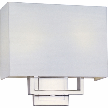 ET2 E2109101SN Edinburgh I 2-light Square Shade Contemporary Wall Sconce - CFL