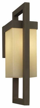 Forecast F861511 City Large Square Contemporary Outdoor Wall Sconce with Light Caramel Glass