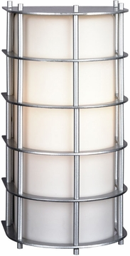 Forecast F8491-41 Hollywood Hills Contemporary Outdoor Silver Wall Fixture - 11 inches tall