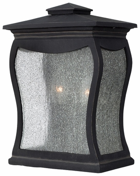 Hinkley 1484MB Richmond Candle Lantern Seedy Glass Black Finish Wall Lighting