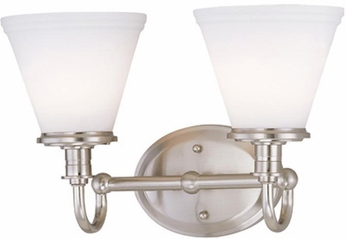Lite Source LS16652PSFRO Bastien Contemporary 2-light Bathroom Lighting Vanity