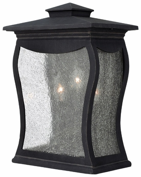 Hinkley 1485MB Richmond 3 Light 15.75 Inch Tall Black Lantern Candle Sconce