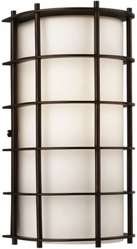 Forecast F8491-68 Hollywood Hills Contemporary Outdoor Bronze Wall Fixture - 11 inches tall