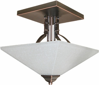 Lite Source LS19762DBRZ Ontibile 2-light Semi-Flush Mount Ceiling Light
