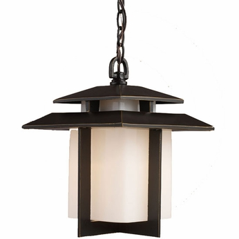 ELK 42172-1 Kanso Asian Outdoor Hanging Ceiling Lantern