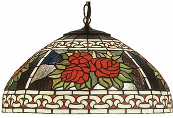 Meyda Tiffany 51866 Roses Tiffany Ceiling Light
