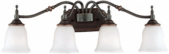 Quoizel TT8604CU Tritan 4 Light Copper Bronze Bath Fixture
