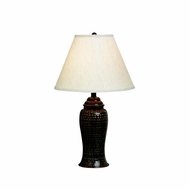 Kichler 70333 Missoula Hammered Bronze Narrow Table Lamp