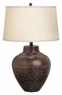 Kichler 70334 Missoula Hammered Bronze Wide Table Lamp