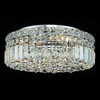 Worldwide 33507 Worldwide 16  5-light Crystal Semi-Flush Ceiling