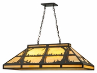Meyda Tiffany 140599 Quiet Pond 40 Inch Wide Oil Rubbed Bronze Island Pendant Lighting