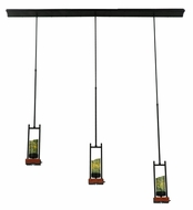 Meyda Tiffany 141348 Grand Terrace 55 Inch Wide Cherry Wood Island Pendant Lighting
