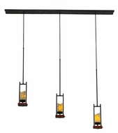 Meyda Tiffany 141350 Grand Terrace Cherry Wood 72 Inch Wide Modern Island Light