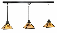 Meyda Tiffany 143181 Winter Pine 50 Inch Wide 3 Lamp Rustic Kitchen Island Light Fixture