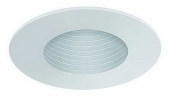 Liton LR944 4 Inch Line Voltage Contemporary Halogen Recessed Phenolic Baffle Narrow Aperture Trim