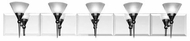 Nouvelle 5 Light Contemporary Vanity Light Fixture