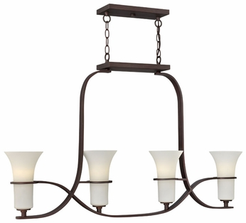 Hinkley 4064VZ Lauren Transitional Bronze 4-Torch Island Lighting