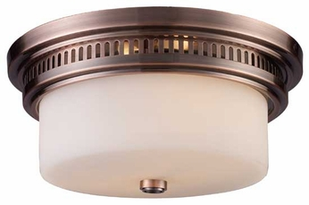 Landmark 661412 Chadwick Vintage Flush Mount Ceiling Light in Antique Copper