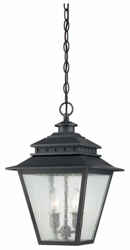 Quoizel CAN1911WB Carson Weathered Bronze 11 Inch Diameter Outdoor Lighting Ceiling Fixture