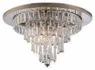 Corbett 170-34 Illusion Clear Faceted Crystal 24 Inch Diameter Flush Lighting Fixture