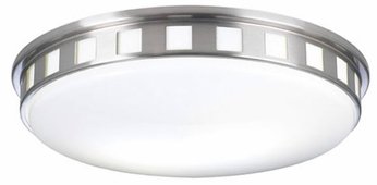 PLC 1958-SN Paxton Fluorescent Ceiling Light in Satin Nickel