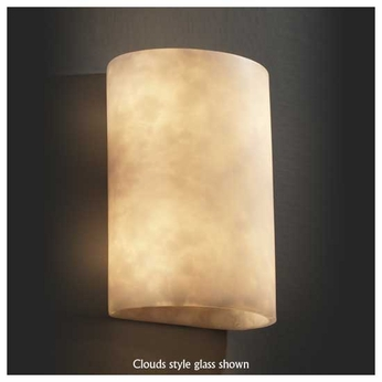 Justice Design 8858 Cylinder Large Wall Sconce
