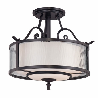 Quoizel ADS1715DC Adonis Semi Flush Mount Traditional Ceiling Lighting