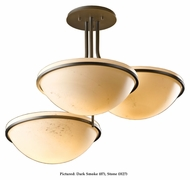 Hubbardton Forge 124255 Moonband 3 Lamp Semi Flush Halogen Ceiling Lighting