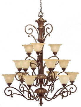 Kichler 1700PRZ Cheswick Parisian Bronze 15-Light, 3-Tier Grande Chandelier