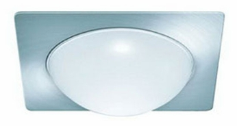 Liton LRQ924 4 Inch Line Voltage Contemporary Halogen Recessed Square Deco Glass Dome Trim