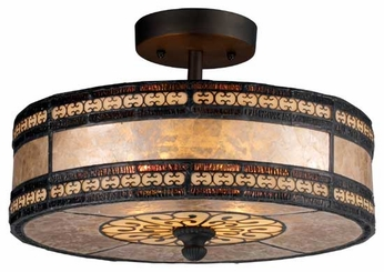 ELK 700652 Mica Filigree Semi-Flush Ceiling Light