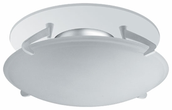 Liton LR946 4 Inch Line Voltage Contemporary Halogen Recessed Deco Glass Shield Dome Trim