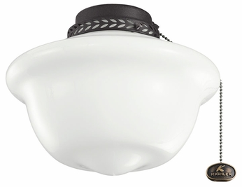 Kichler 380065 10  School House Light Fixture Add-On for Ceiling Fans
