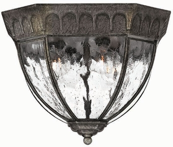 Hinkley 1713BG Regal 4 Light Traditional 11 Inch Outdoor Flushmount Ceiling Fixture