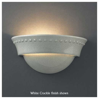 Justice Design 1020 Ambiance Small Cyma Wall Sconce w/ Beads