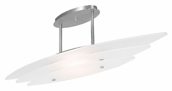 Access 50125 Delfina 1 Light Halogen Semi Flush Ceiling Fixture