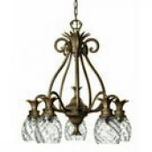 Hinkley 4885PZ Pearl Plantation 5 Light Down Facing Tropical Chandelier HIN