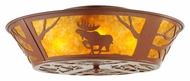 Meyda Tiffany 142168 Northwoods Moose on the Loose Rustic Ceiling Light