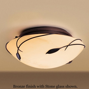 Hubbardton Forge 12-6709 Leaf Rounded Flush-Mount Ceiling Light
