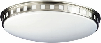 Philips F2040-36E1FHM Windows Contemporary Fluorescent Satin Nickel Flushmount - 23.5 inches wide