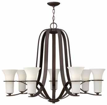 Hinkley 4068VZ Lauren Large 7-Lamp Classic Overhead Chandelier Lamp - Bronze