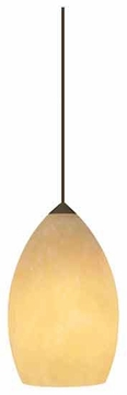 Tech 700TDFIRXH 2 Thousand Degrees Fire Onyx Contemporary Mini Pendant Light