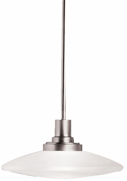 Kichler 2655NI Structures Contemporary Small Halogen Mini Pendant Light in Brushed Nickel
